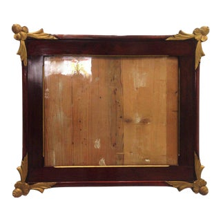 19th Empire Style Rectangular Frame with Bronze Mounts in the Corners