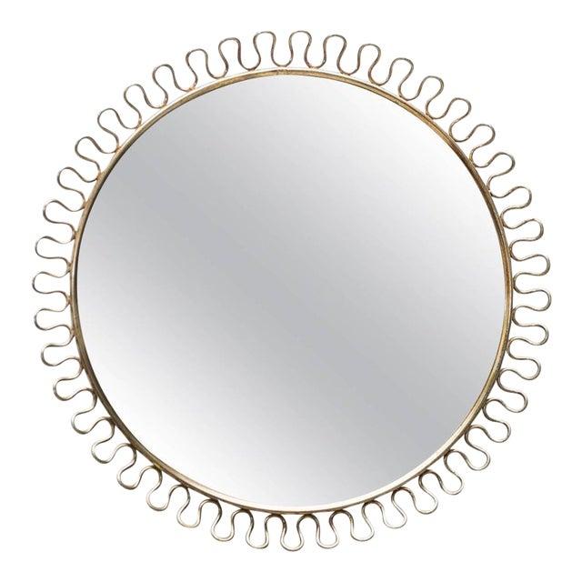 Sculptural Brass Loop Mirror by Josef Frank for Svenskt Tenn Sweden, 1950s - Image 1 of 5