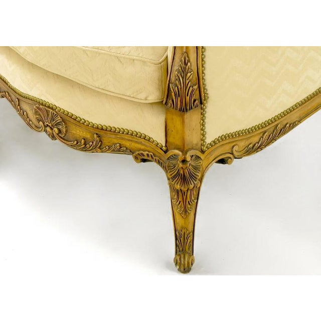 Yale Burge Louis XV Wingback Settee - Image 8 of 9