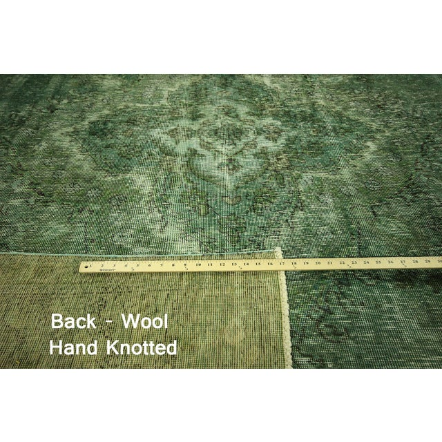 Overdyed Floral Hand Knotted Wool Rug - 9' x 12' - Image 7 of 10