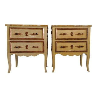 Italian Venetian Parcel Gilt Night Tables - a Pair