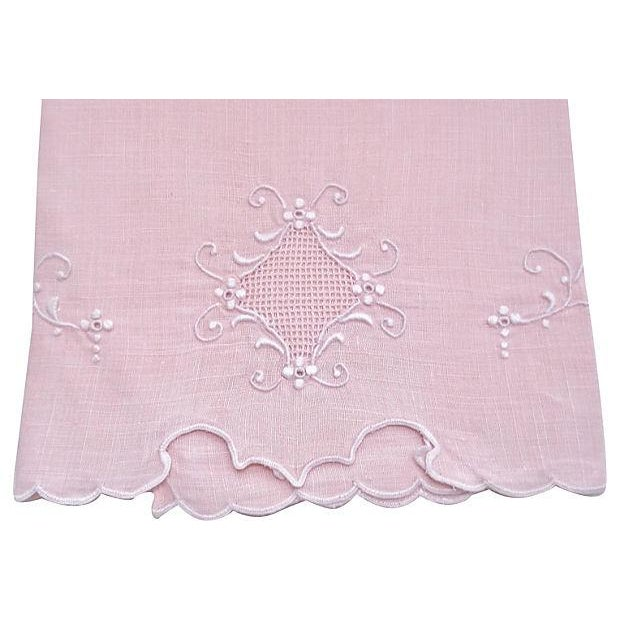 Image of Peach Madeira Linen Hand Towel
