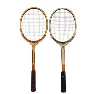Vintage TAD 'Classic' Tennis Rackets, A Pair