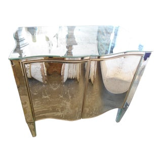 Curved Mirrored Cabinet