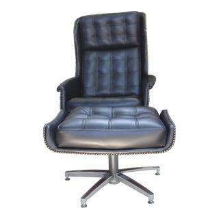 Mid-Century Style Lounge Chair & Ottoman