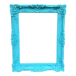 Antique Tiffany Blue Plaster Picture Frame