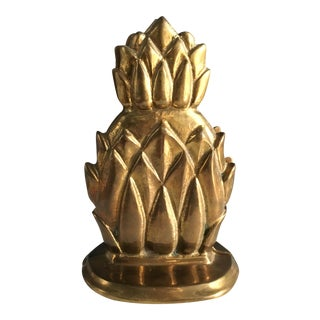 Vintage Brass Pineapple Bookends - Pair