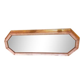 Gold & White Octagonal Mirror
