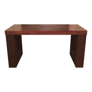 Solid Walnut Indonesian-Design Desk
