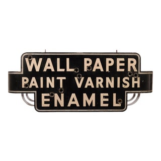 "Art Deco ""Wallpaper, Paint, Varnish, Enamel"" Neon Sign"