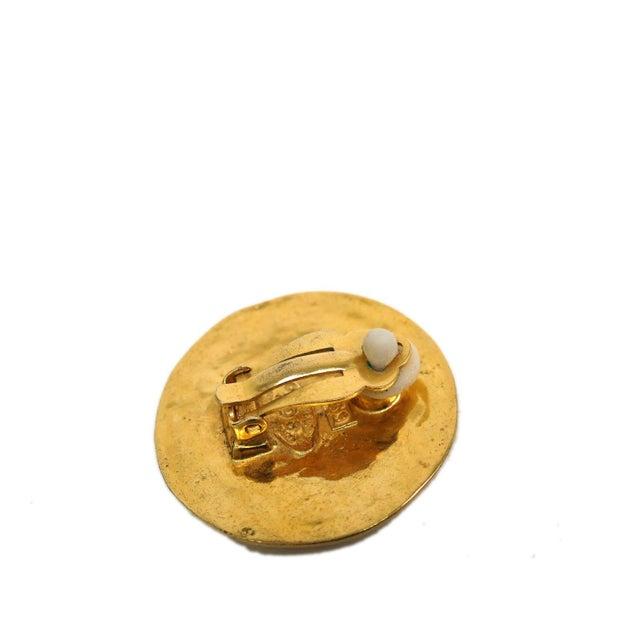 Image of Chanel Mark Clip-On Metal Earrings