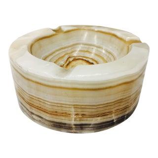 Vintage Layered Marble Ashtray Dish