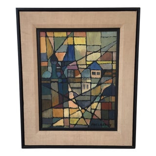 Signed Original Macloskey Abstract Cubist Painting
