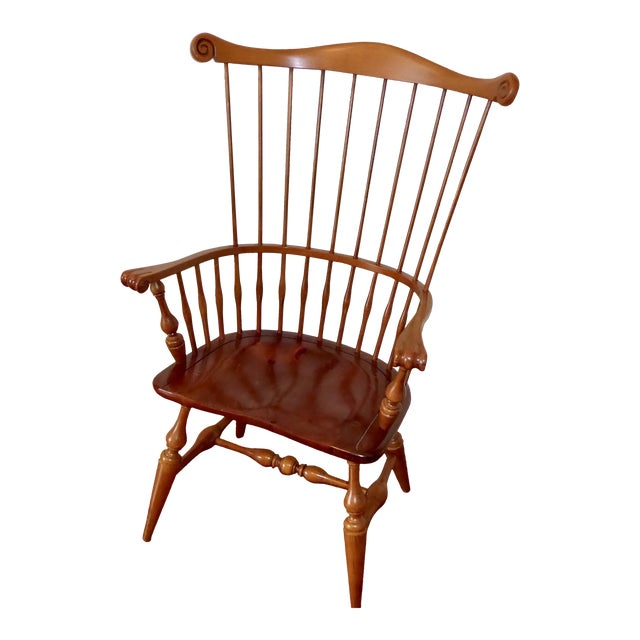 Ethan Allen Windsor High Back Arm Chair - Image 1 of 10