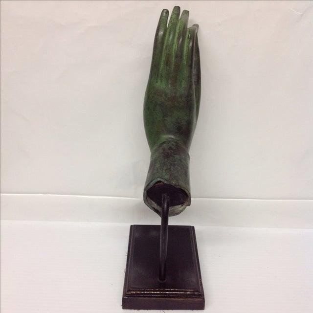 Bronze Hand Sculpture With Verre De Gris Patina - Image 4 of 6