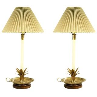 Pair of Frederick Cooper Pineapple Lamps