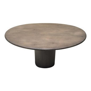 Solid Oak Top Round Dining Table