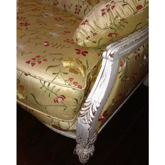 Image of Antique Louis XVI Style French Settee