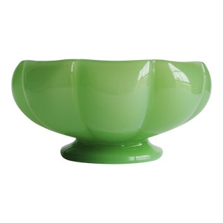Vintage Green Glass Bowl