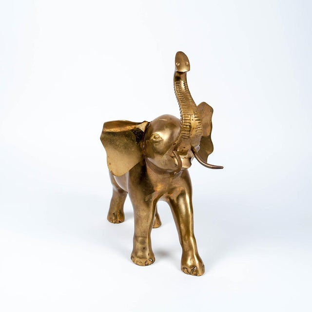 Image of Vintage Large Brass Elephant