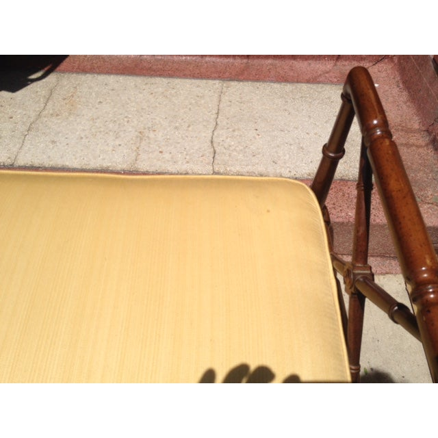 Vintage Faux Bamboo Chippendale Bench - Image 4 of 6