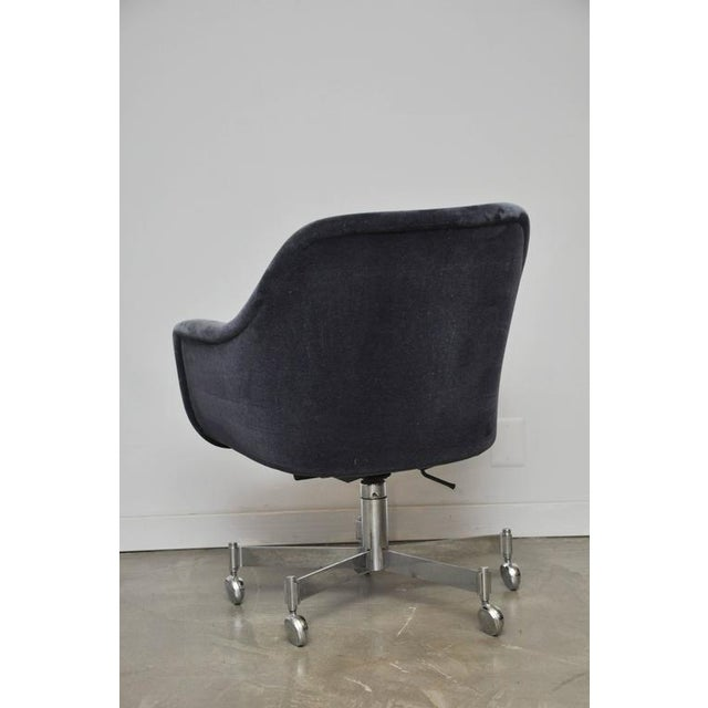 Ward Bennett Desk Chair in Mohair - Image 4 of 7