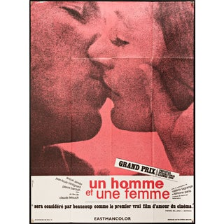 "French Claude Lelouch ""A Man and a Woman"" Poster"