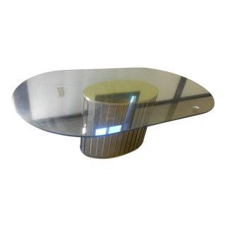 Mid-Century Modern Milo Baughman Era Oval Dining Table