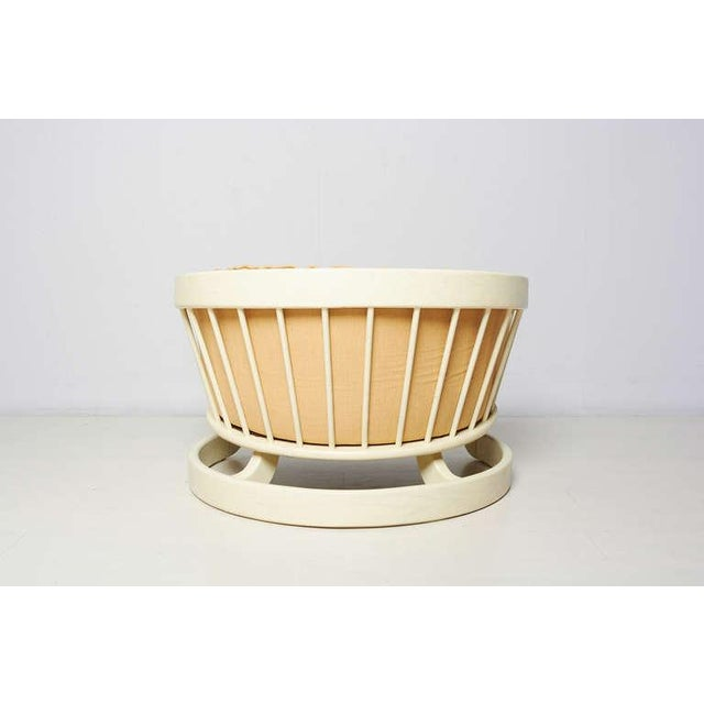 Milo Baughman Style White Lacquer Lounge Chair - Image 2 of 6