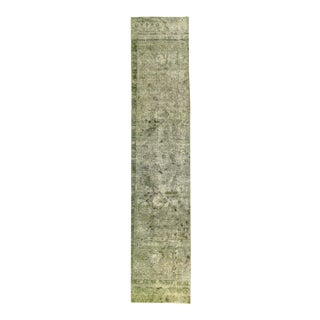 "Apadana - Vintage Overdyed Distressed Rug, 2'5"" x 11'9"""