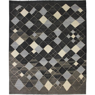 """Hand Knotted Modern Kilim by Aara Rugs - 9'10"""" x 8'9"""""""