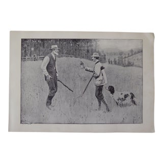 Vintage 1900's A. B. Frost Lithograph