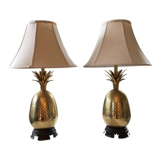 Vintage Heyward House Pineapple Lamps - A Pair