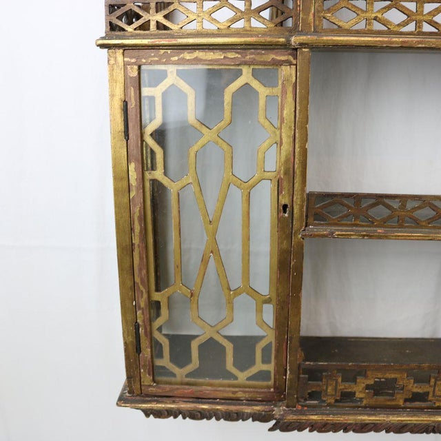 Chinese Chippendale Hanging Pagoda Wall Shelf - Image 6 of 11