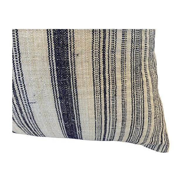 Nubby Homespun Striped Linen Pillow - Image 2 of 5