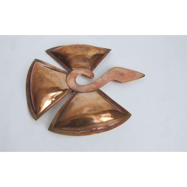 Image of Los Castillo Copper and Silver Bird Tray