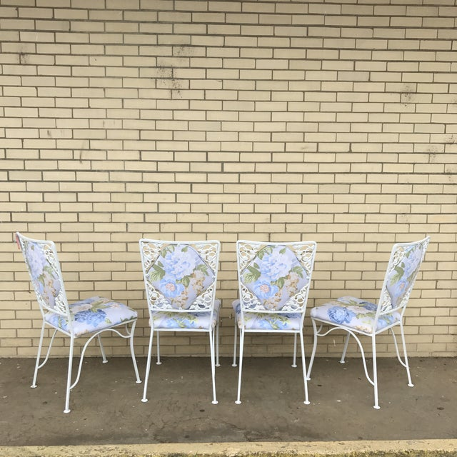 "Iron ""Garden Party"" Chairs - Set of 4 - Image 6 of 6"