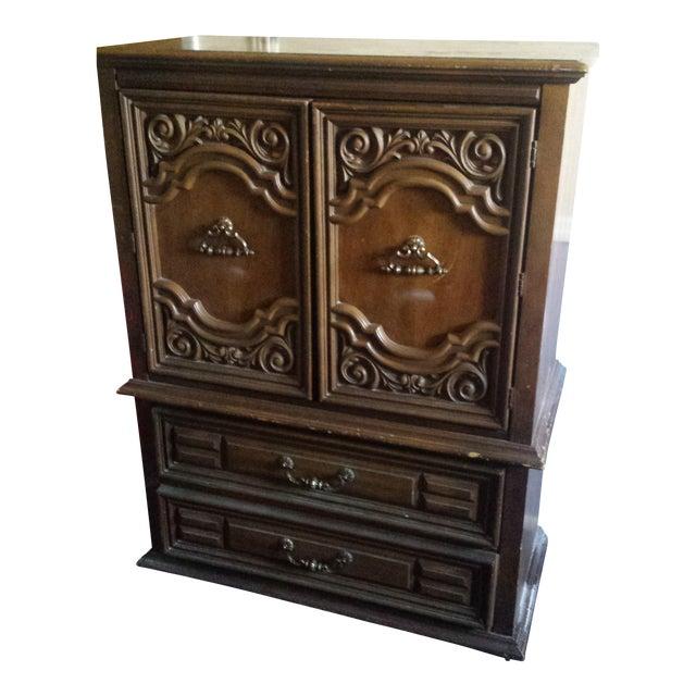Image of Vintage Bassett Bureau Cabinet