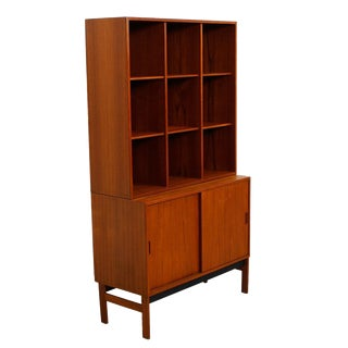 Danish Modern Teak Display Wall Unit