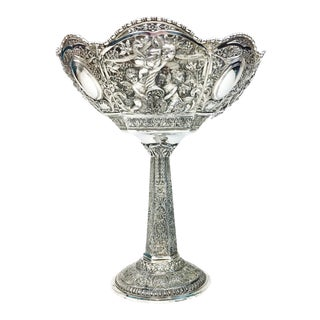 Antique Derby Silverplate Compote