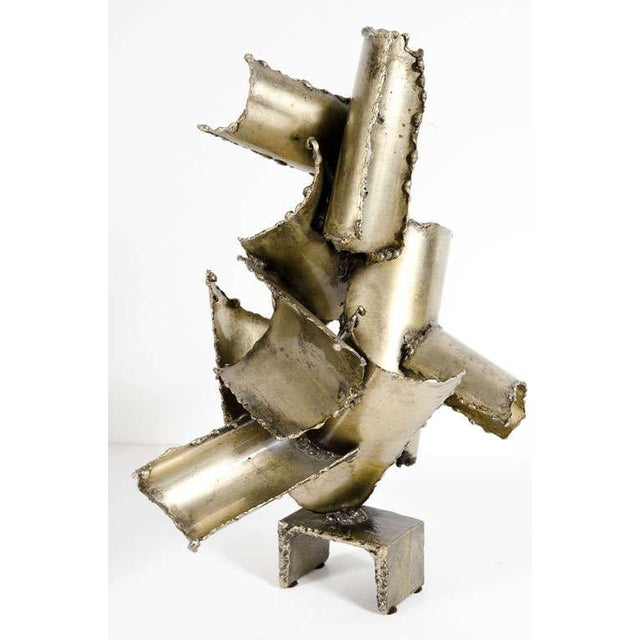 Marcello Fantoni Brutalist Torch Cut Steel Sculpture - Image 2 of 10