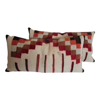 Navajo Indian Weaving Bolster Pillows