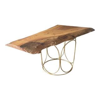 Elm Live Edge Pedestal Coffee Table