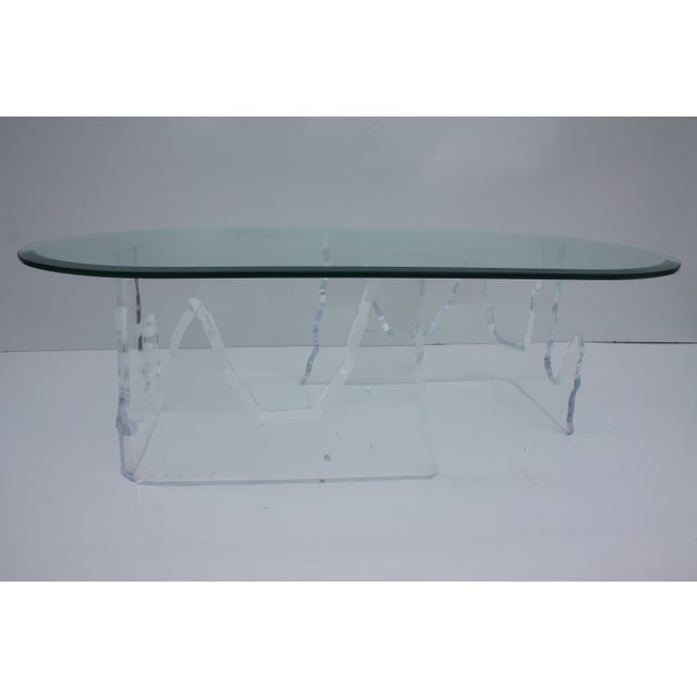 Lion in Frost Vintage Lucite Iceberg Coffee Table - Image 8 of 9