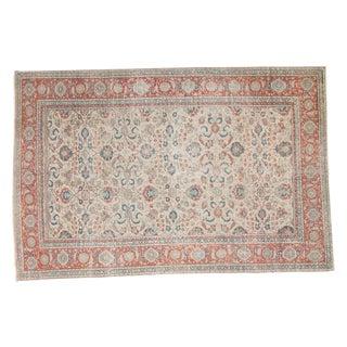"Vintage Turkish Distressed Kaisari Carpet - 4'11"" X 7'5"""