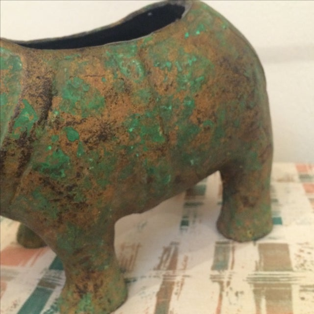 Japanese Cast Metal Elephant Planter - Image 6 of 7