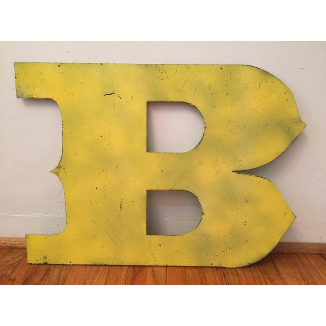 Image of Metal Letter B Sign