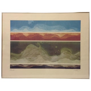 Source VI By Robert Perine 1977 Signed Lithograph.