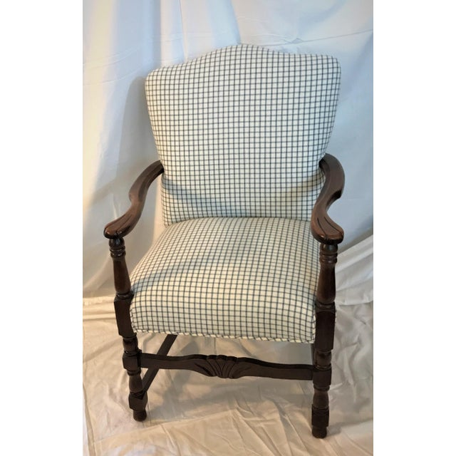 Vintage French Fauteuil Arm Chair - Custom Upholstered - Image 3 of 6
