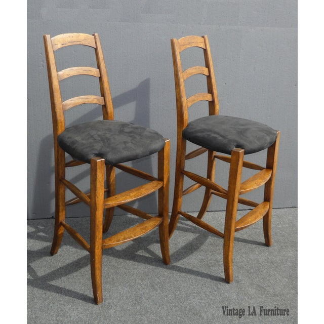 Minton Spidell French Country Black Bar Stools - Image 2 of 11